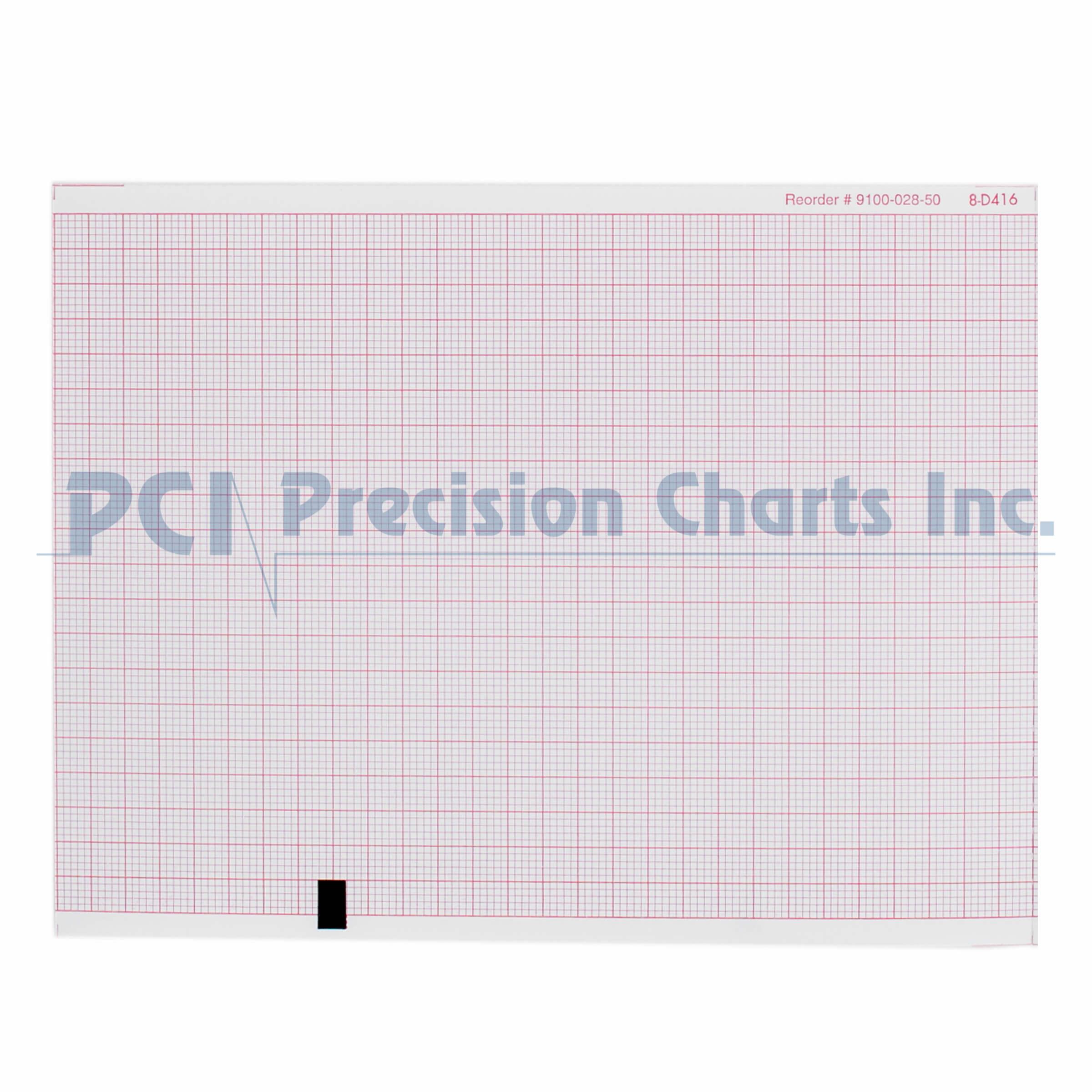 Mortara Compatible 9100 028 01 Medical Cardiology Recording Charts Pci Charts